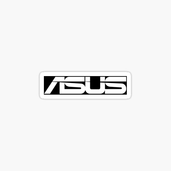 Logo Asus Noir / Blanc Sticker