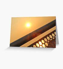 Sun through Railings Greeting Card