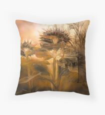 Spring garden at sunset Throw Pillow