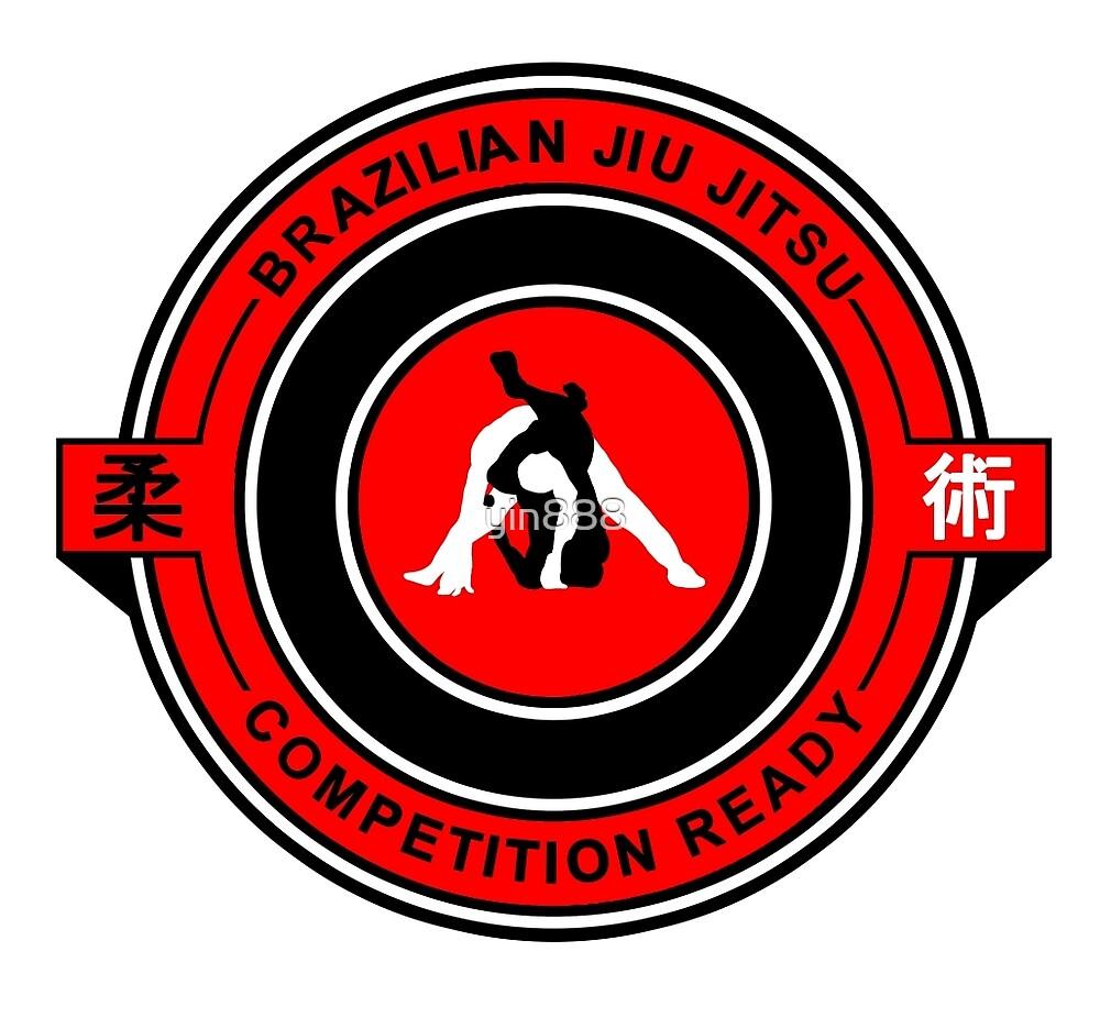 Brazilian Jiu Jitsu Competition Ready Triangle Choke Red  by yin888