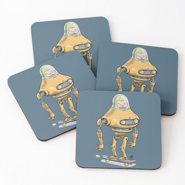 Robot Skate Coasters (Set of 4)