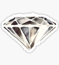 Monotone diamond Sticker