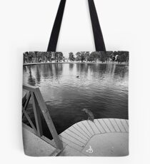 Fishing Bird Tote Bag