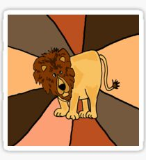 Funny Funky Lion Abstract Art Original Sticker