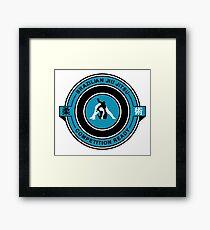 Brazilian Jiu Jitsu Competition Ready Triangle Choke Blue Framed Print