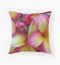 Rainbow Frangipani - Warming Throw Pillow
