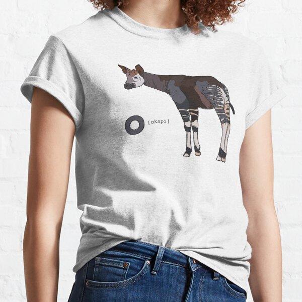 Funky Animal Alphabet: O is for Okapi Classic T-Shirt