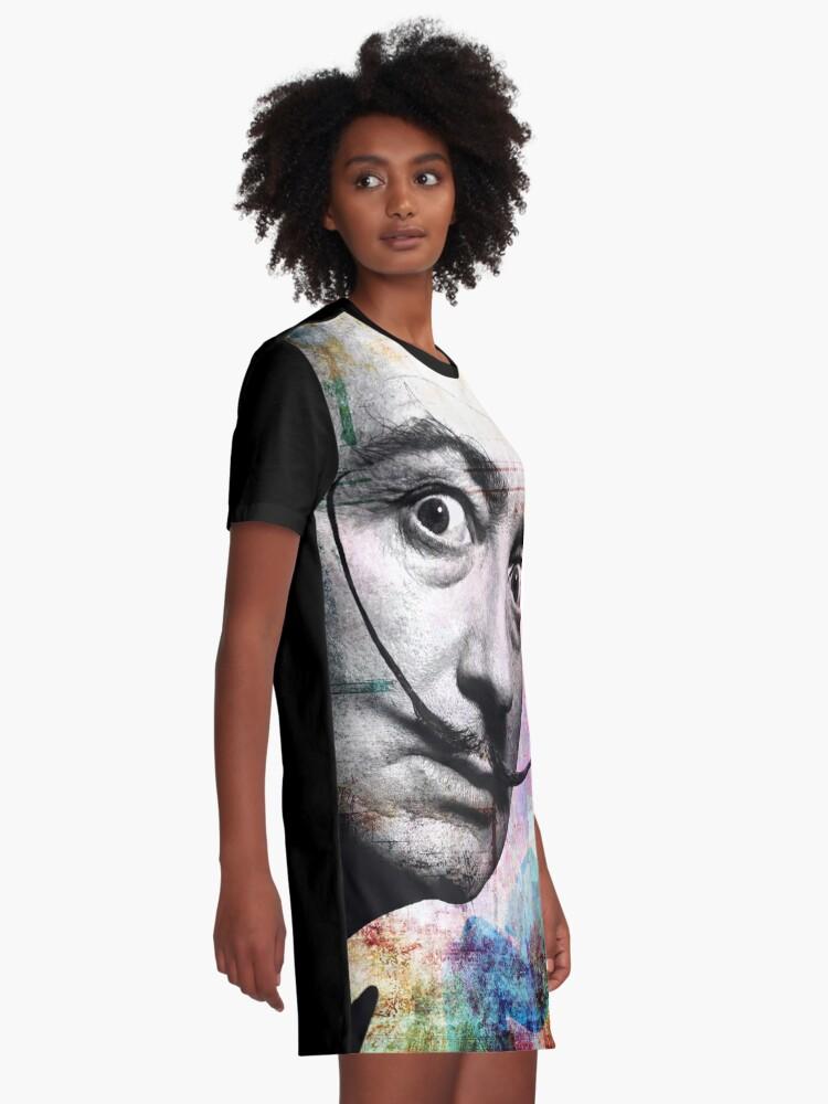 Alternate view of salvador dali Graphic T-Shirt Dress
