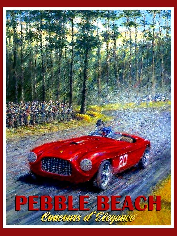PEBBLE BEACH; Grand Prix Auto Print by posterbobs