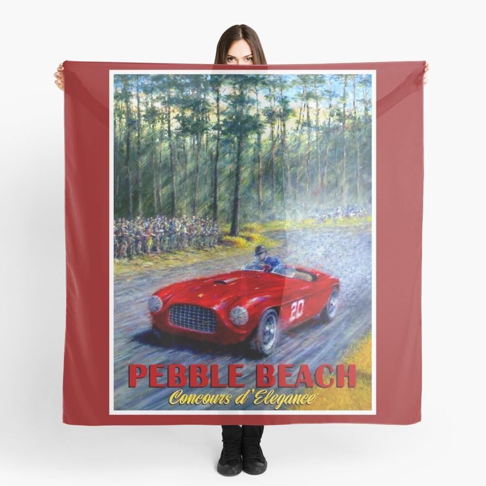 PEBBLE BEACH; Grand Prix Auto Print Scarf