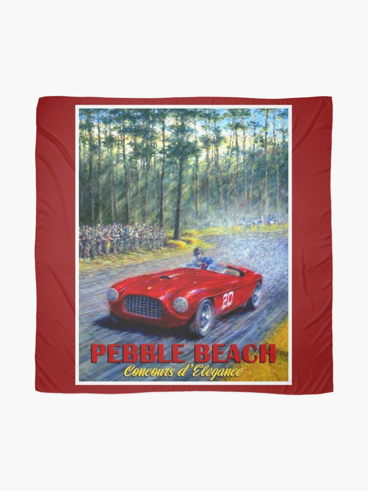 Alternate view of PEBBLE BEACH; Grand Prix Auto Print Scarf