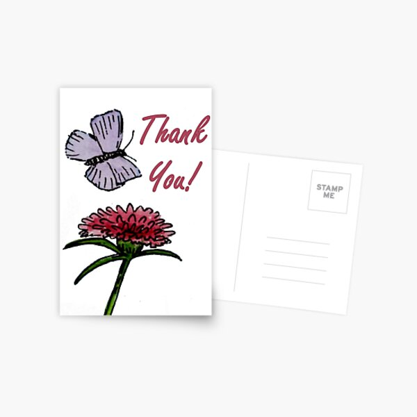 Purple and Red Friends - Thank You Card Postcard