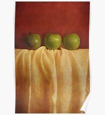 trois pommes Poster