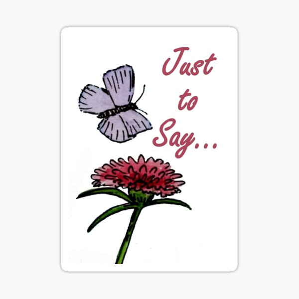 Purple and Red Friends - Just to Say Card Sticker