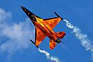 "RNAF F-16AM Fighting Falcon J-015 ""Orange Lion"" by Andrew Harker"