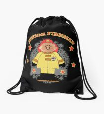 Junior Toy White Fireman Drawstring Bag