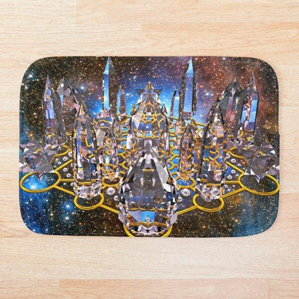 Pleiadian Crystal Stargate Grid Bath Mat