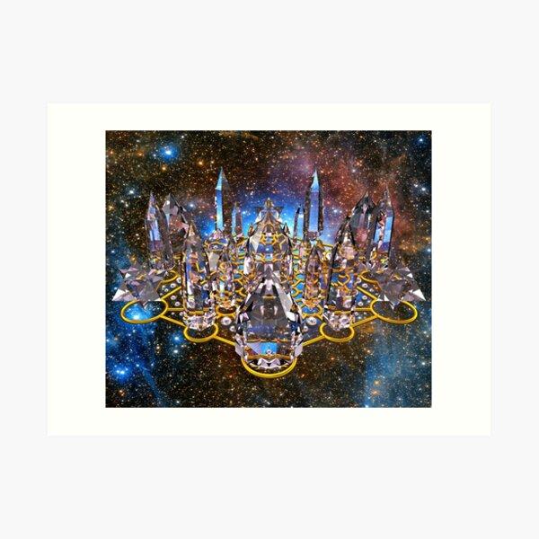 Pleiadian Crystal Stargate Grid Art Print