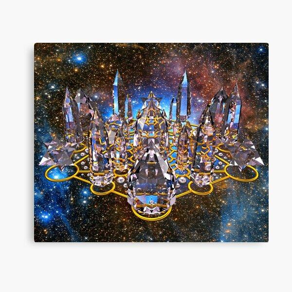 Pleiadian Crystal Stargate Grid Canvas Print