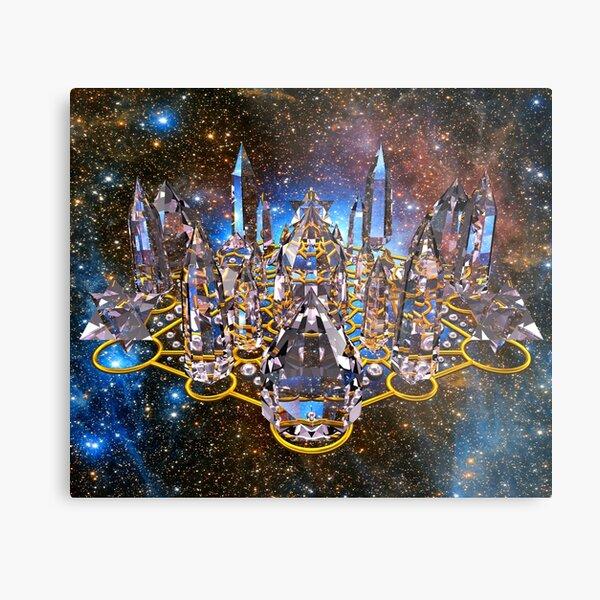 Pleiadian Crystal Stargate Grid Metal Print