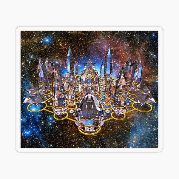 Pleiadian Crystal Stargate Grid Transparent Sticker