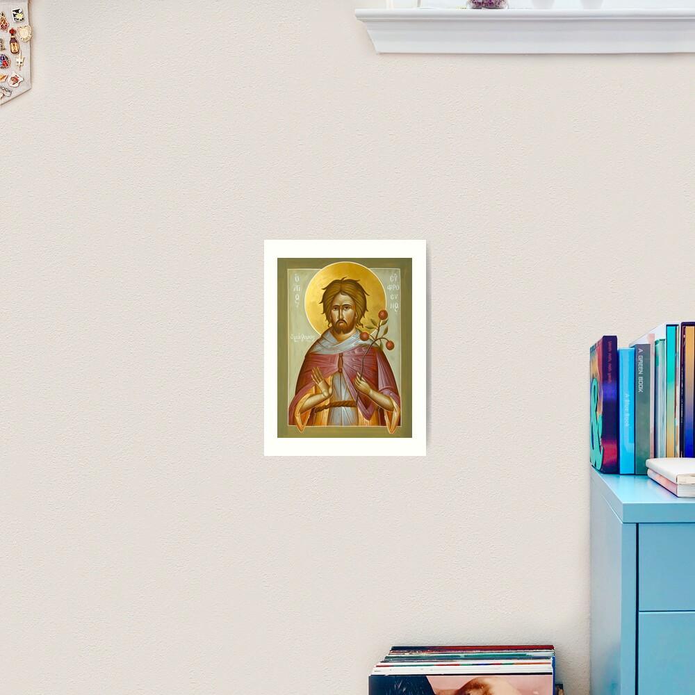 St Euphrosynos the Cook Art Print