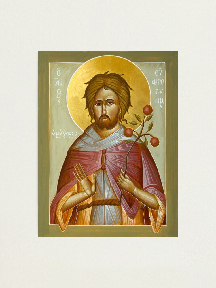 Alternate view of St Euphrosynos the Cook Photographic Print