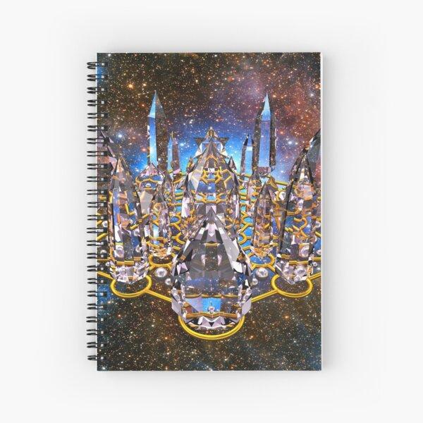 Pleiadian Crystal Stargate Grid Spiral Notebook