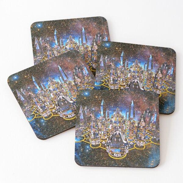 Pleiadian Crystal Stargate Grid Coasters (Set of 4)