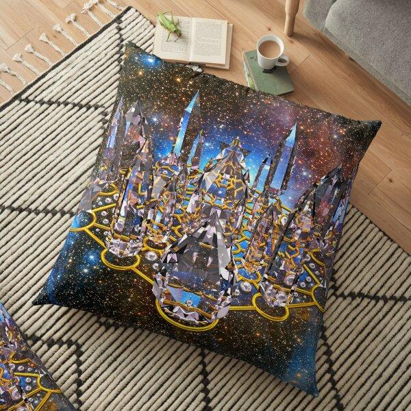 Pleiadian Crystal Stargate Grid Floor Pillow