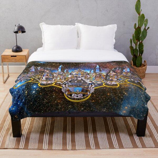 Pleiadian Crystal Stargate Grid Throw Blanket