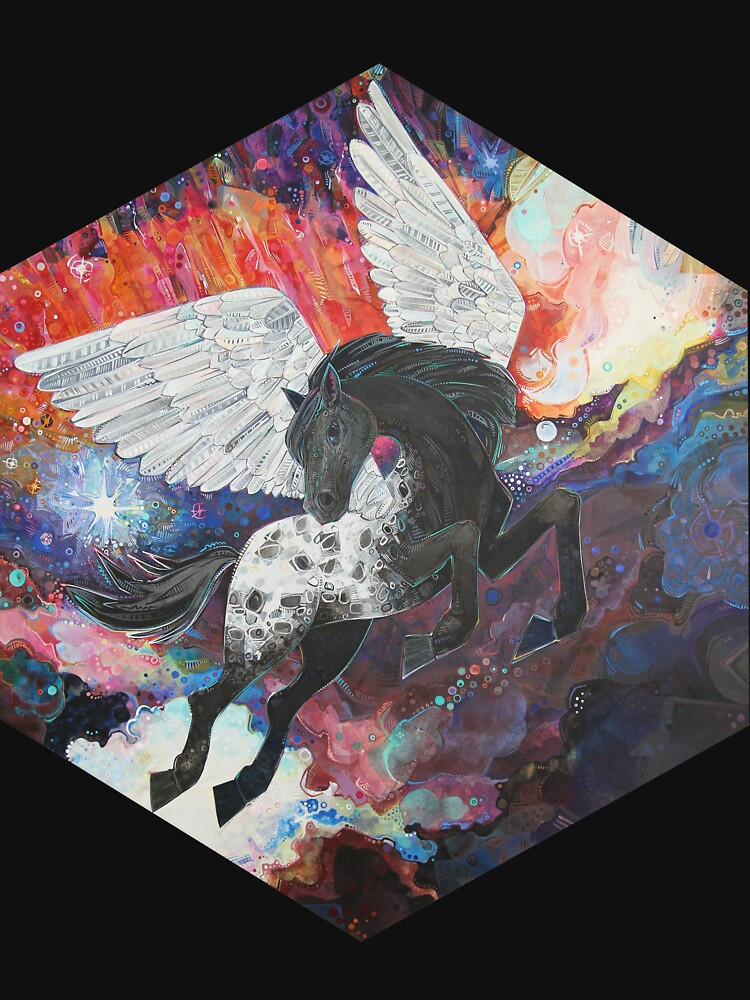 Pegasus painting - 2013 by gwennpaints