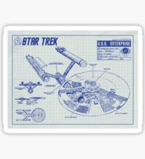 Star Trek U.S.S. Enterprise Sticker