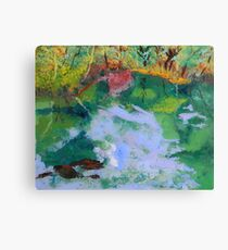 Ichetucknee Springs Abstract on Glass Canvas Print