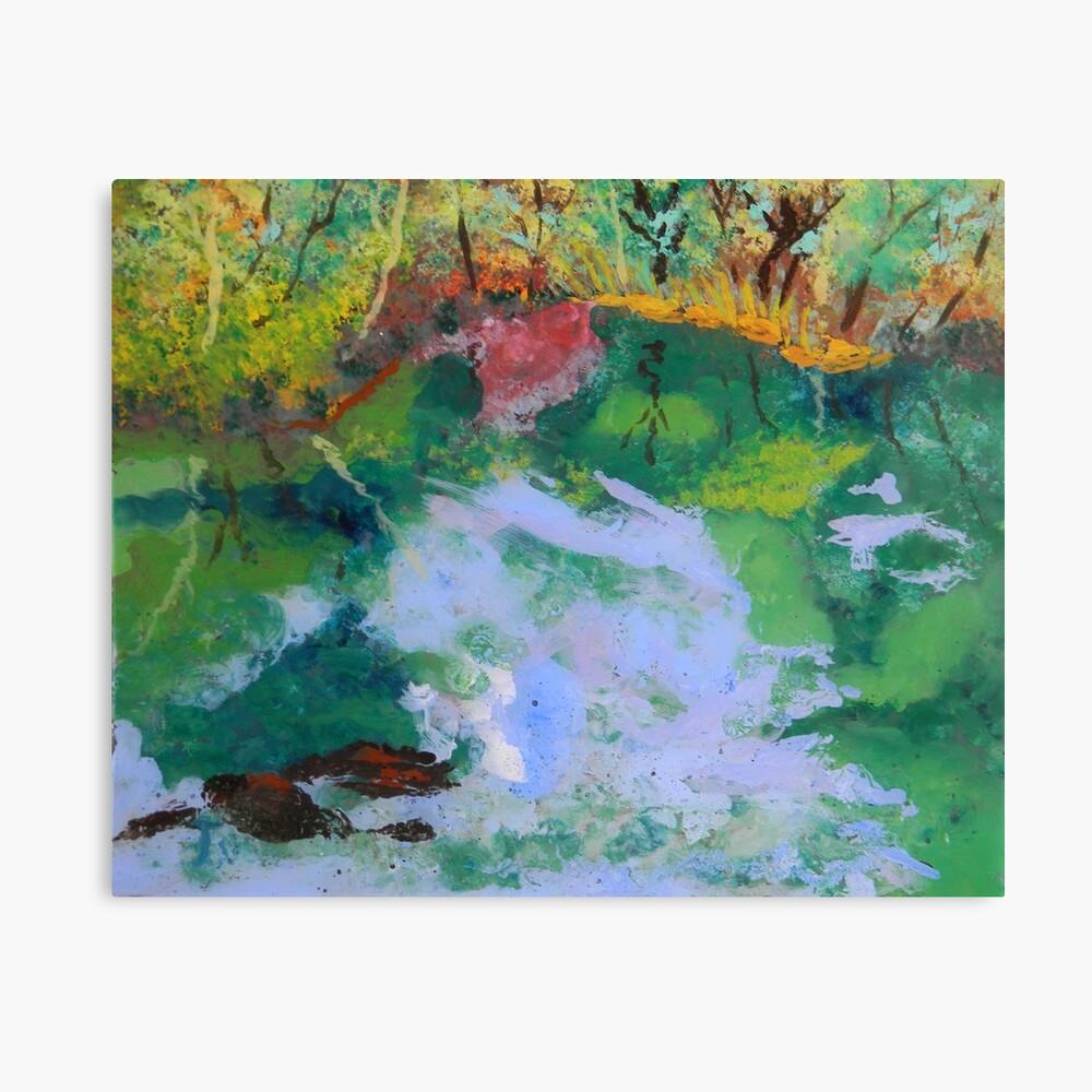 Ichetucknee Springs Abstract on Glass Canvas Print