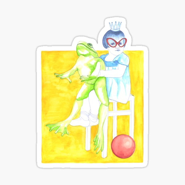 Frog King Sticker