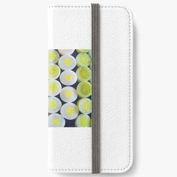 Pattern of leeks-cards iPhone Wallet