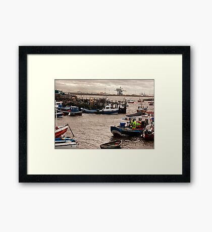 At the Mouth of the River Tees Framed Print