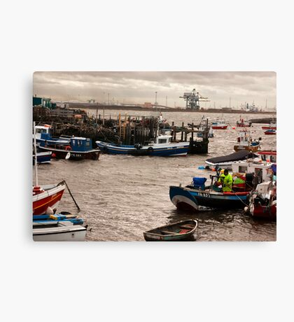At the Mouth of the River Tees Canvas Print
