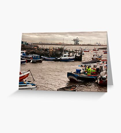 At the Mouth of the River Tees Greeting Card