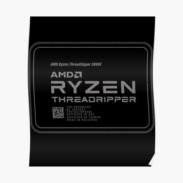 AMD 3990x Threadripper CPU  Poster