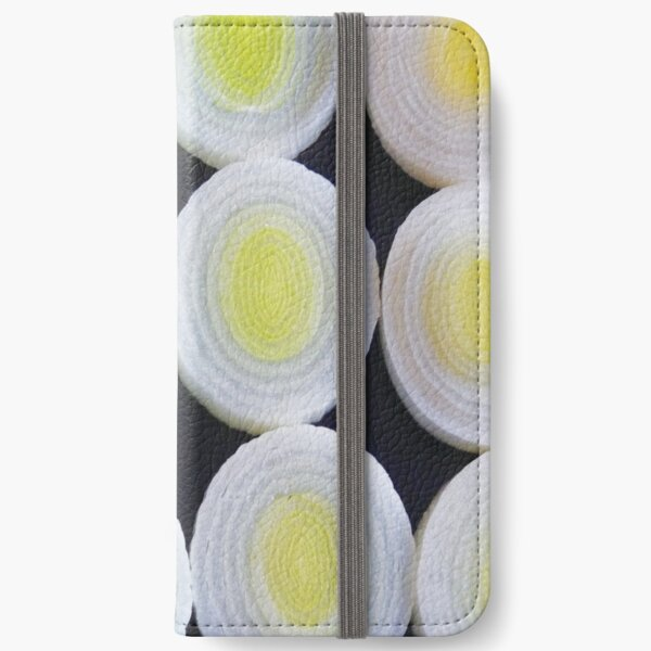 Pattern of leeks-clock iPhone Wallet
