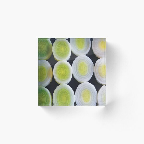 Pattern of leeks-coaster Acrylic Block
