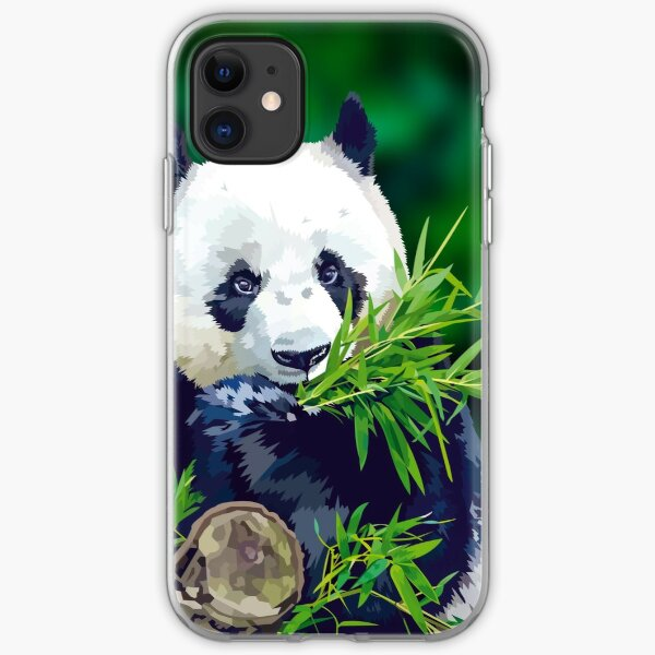 Panda Eating Bamboo iPhone Soft Case