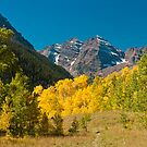 Meadow View of the Maroon Bells by Gregory J Summers