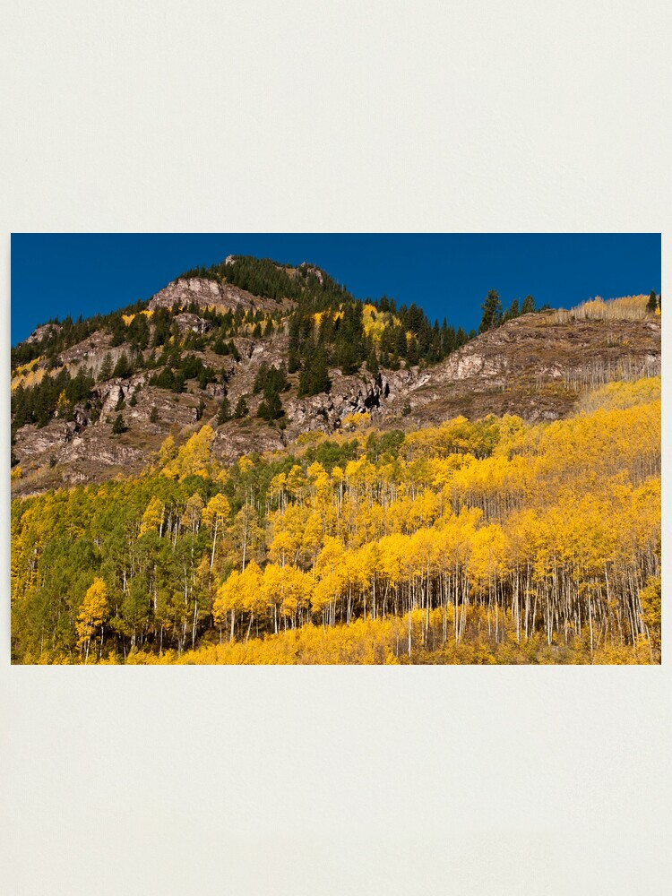 Alternate view of Gold and Granite Photographic Print