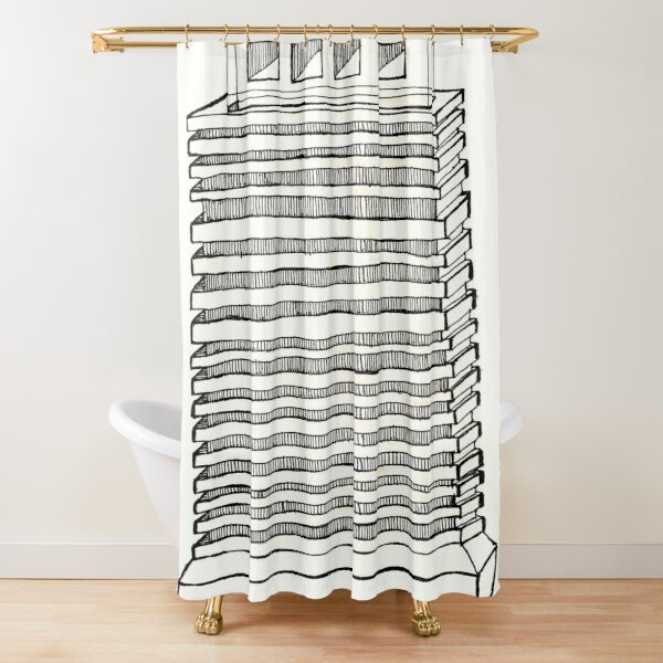 Construct Art Line Drawing 237 Shower Curtain