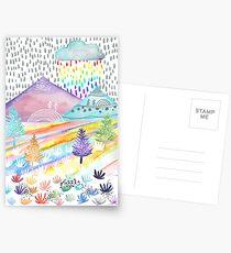 Watercolour Landscape Postcards