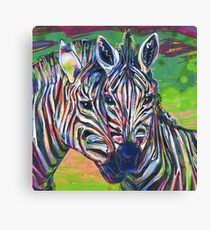 Zebras painting - 2012 Canvas Print