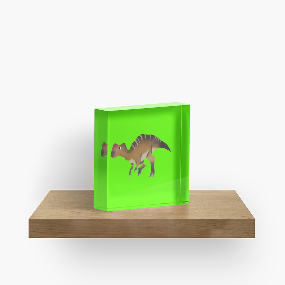 Watercolor dinosaur Acrylic Block
